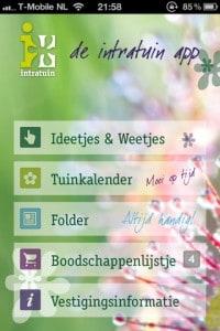iphone app voor de tuin - intratuin