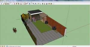 sketchup tuin voorbeeld