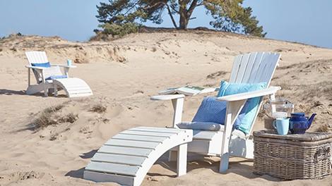 houten tuinmeubels strandleven