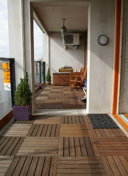 Vaak Het steigergevoel met een makkelijke houten vloer op je terras of JM66